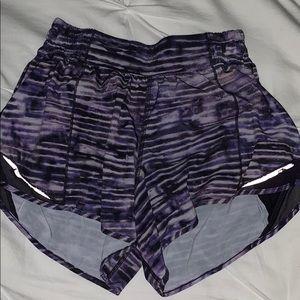 Lululemon Hotty Hot Purple Shorts